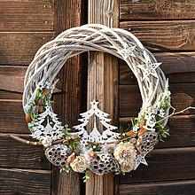 Dekorácie - Veľký vianočný veniec - 10132290_