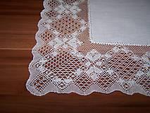 Úžitkový textil - Paličkovaná čipka I. (dečka, obrus) - 10129956_