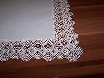 Úžitkový textil - Paličkovaná čipka III. (dečka, obrus) - 10130003_