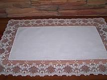 Úžitkový textil - Paličkovaná čipka IV. (dečka, obrus) - 10130011_