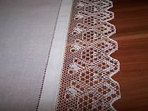 Úžitkový textil - Paličkovaná čipka VI. (dečka, obrus) - 10130041_