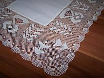 Úžitkový textil - Paličkovaná čipka VII. (dečka, obrus) - 10130051_