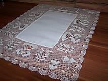Úžitkový textil - Paličkovaná čipka VII. (dečka, obrus) - 10130053_