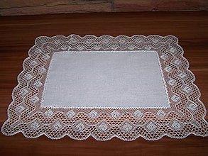 Úžitkový textil - Paličkovaná čipka VIII. (dečka, obrus) - 10130055_
