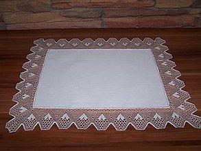 Úžitkový textil - Paličkovaná čipka IX. (dečka, obrus) - 10130062_