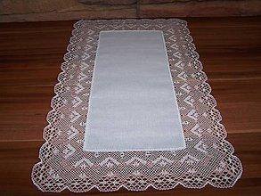 Úžitkový textil - Paličkovaná čipka X. (dečka, obrus) - 10130069_