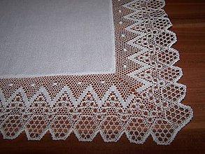 Úžitkový textil - Paličkovaná čipka XI. (dečka, obrus) - 10130073_