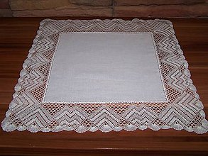 Úžitkový textil - Paličkovaná čipka XII. (dečka, obrus) - 10130080_