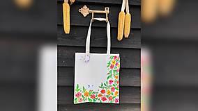 Iné tašky - ♥ Plátená, ručne maľovaná taška ♥ - 10129524_