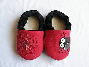 Topánočky - Papučky s pavúkom (veľ.17) - 10130082_