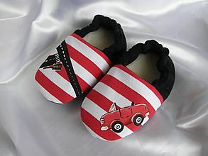 Topánočky - Papučky a autíčkom (veľ.18) - 10130180_