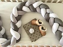 Textil - Mantinel v odtieňoch sivej (360cm) - 10132311_