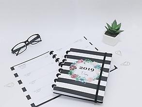 Papiernictvo - Planovací diár 2019 - krúžková väzba / Diár A5 200 strán - 10131599_