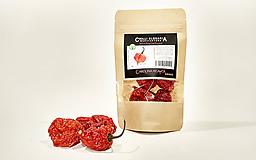 Potraviny - Sušené celé chilli papričky -  CAROLINA REAPER 🔥🔥🔥🔥🔥 - 10131497_