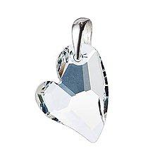 Iné šperky - Strieborný prívesok srdce, Crystal AB - 10132235_