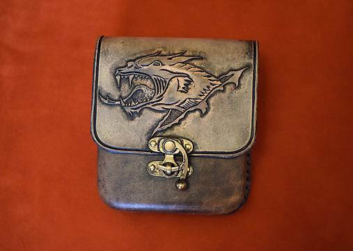 2c7f6ec15 Kožená kapsa s dračím motívom / horvatdesign - SAShE.sk - Handmade Tašky