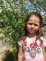 Detské oblečenie - Maľované ľudovoladené dievčenské tričko - 9552126_