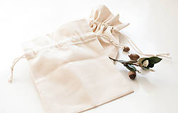 Obalový materiál - Šité vrecko z ľanového plátna (Venček) - 10129683_