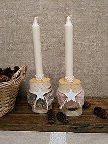 Svietidlá a sviečky - svietniky s kožušinkou - 10129076_