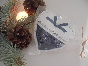 Dekorácie - Vianočné srdiečko  folk - 10129384_