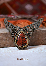 Náhrdelníky - Náhrdelník s mahagónovým obsidiánom •Srdce šamanky• - 10130519_