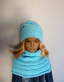 Detské čiapky - Modra supravka 3 SET-SKLADOM - 10130416_