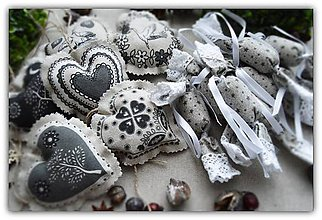 Dekorácie - Vianočné ozdoby - sada č.13 - 10133049_