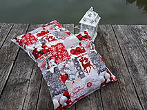 Úžitkový textil - Vianočné obliečky na vankuše - 10133638_