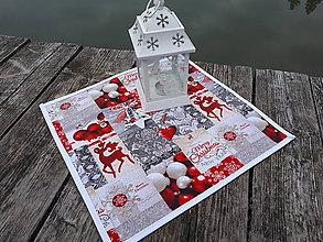Úžitkový textil - Prestieranie Merry Christmas (s lemom) - 10133724_