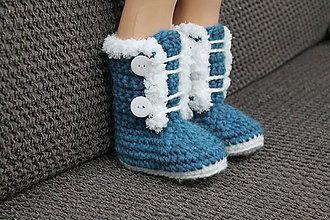 Topánočky - Topánočky z ovčej vlny - 10136422_
