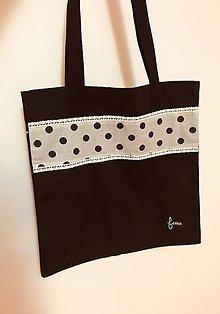 Nákupné tašky - Čierna taška s krajkou - 10135661_
