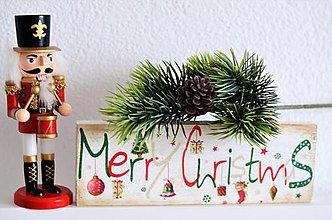 Tabuľky - Tabuľka Merry Christmas - 10134816_