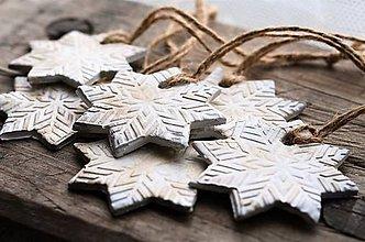 Dekorácie - Snehové vločky na stromček - 10134870_