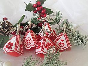 Dekorácie - Vianoční anjelici - 10134799_