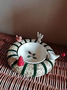 Nádoby - Vianočná miska na orechy - 10133811_