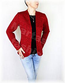 Mikiny - Kabátek bez zapínání-svetrovina(více barev) (Fialová) - 10133172_
