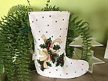 Úžitkový textil - Mikulášska čižma - 10134114_