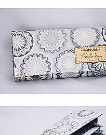 Peňaženky - Peňaženka sivé mandaly - 10136680_