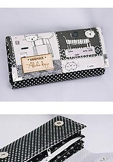 Peňaženky - Peňaženka čierno-biele mačky - 10136731_