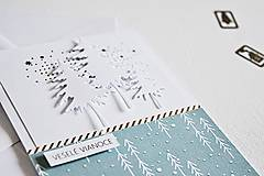 Papiernictvo - Vianočný pozdrav - stromčeky I - 10135185_