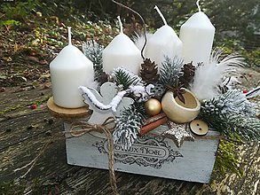 Dekorácie - Adventný svietnik - 10132909_