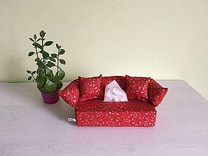 Krabičky - Obal na servítky - Vianočný červený - 10133323_
