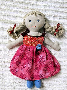 Bábiky - handrová bábika - 10136039_