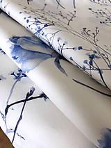 Úžitkový textil - FLORAL akvarelová obliečka - Gypsomilka - 10134801_