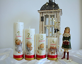 Svietidlá a sviečky - Anjelský advent - 10134293_