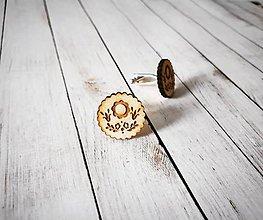 Šperky - Drevené manžetové gombíky - 10136974_
