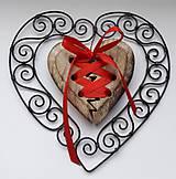 Dekorácie - ♥ Srdiečko z lásky zviazané ♥ - 10133316_
