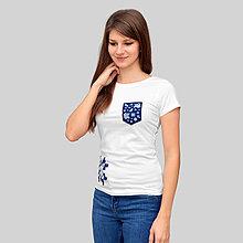 Tričká - modrotlačové dámske - 10136491_