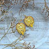 Náušnice - Oriental n.26 - sutaškové náušnice - 10133400_