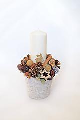 Dekorácie - Vianočný svietnik - 10136503_